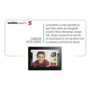 Vonino SpeedStar S, 7 inch IPS MultiTouch, Cortex A9 1.6GHz Dual-Core, 1GB RAM, 16GB flash, Wi-Fi, Bluetooth, Android 4.1.1, negru + cablu OTG + casti