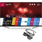 Televizor LED LG Smart TV 42LB731V Seria LB730V 106cm argintiu Full HD 3D + 2 perechi de ochelari 3D