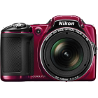 Nikon COOLPIX L830 Rosu + Incarcator + 4 acumulatori + Card 8GB + Geanta