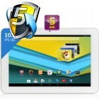 Tableta UTOK 1010 Q, 10.1 inch IPS, MultiTouch, Cortex A7 1GHz Quad Core, 1GB RAM, 8GB flash, Wi-Fi, Android 4.2, alb-argintiu