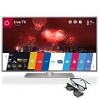 Televizor LED LG Smart TV 60LB650V Seria LB650V 152cm argintiu Full HD 3D contine 2 perechi de ochelari 3D