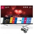 Televizor LED LG Smart TV 55LB731V Seria LB731V 139cm argintiu Full HD 3D contine 2 perechi de ochelari 3D