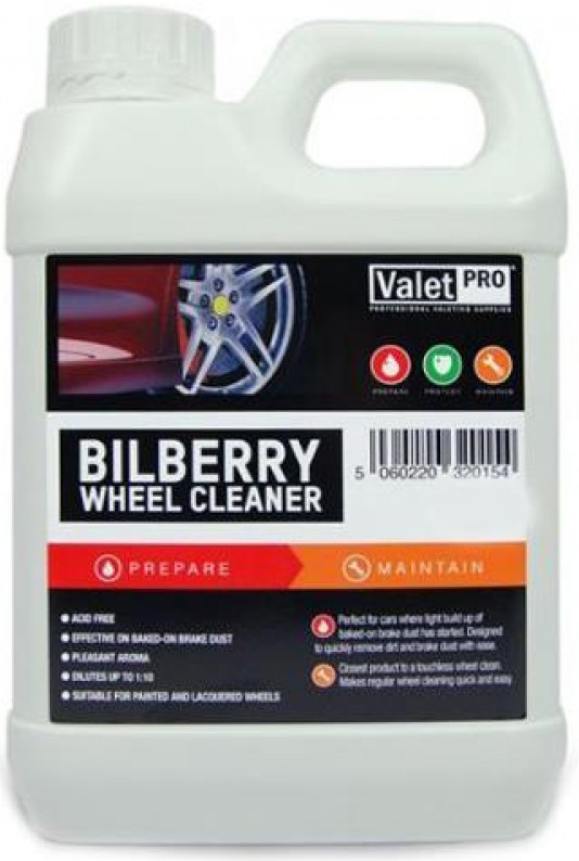 Jante si anvelope Valet Pro Bilberry Wheel Cleaner - Solutie Curatare Jante 5L