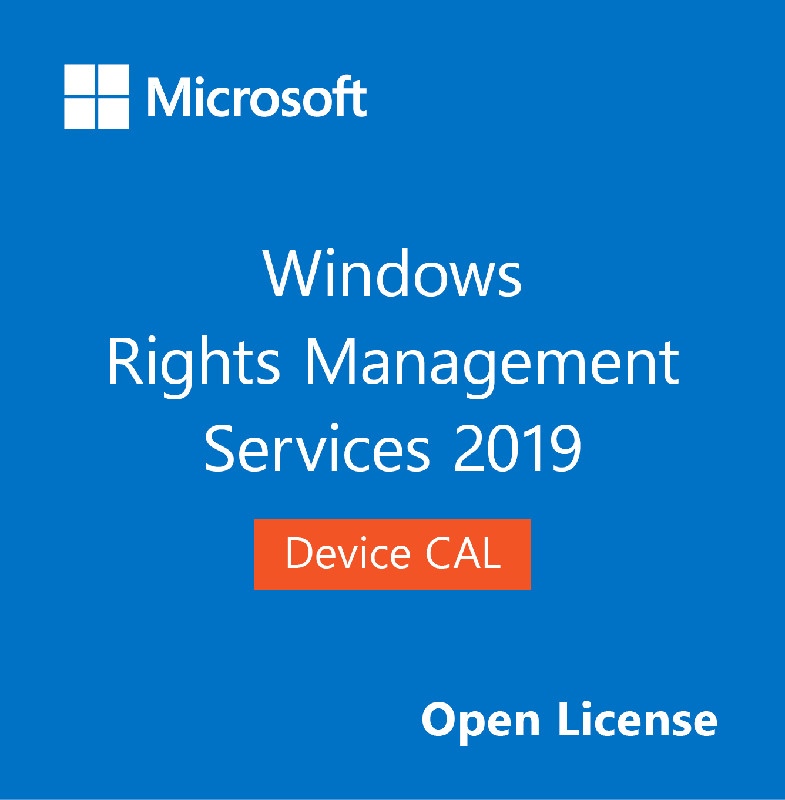 Microsoft CAL Device, Windows (RMS) Rights Management Services 2019, OLP NL, SNGL, 1 Device