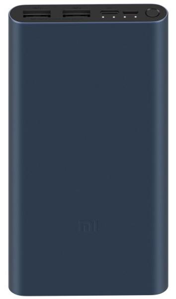 Baterie externa Xiaomi Mi Power Bank 3, 10000 mAh, 2x USB, 1x USB-C, 18W, Black