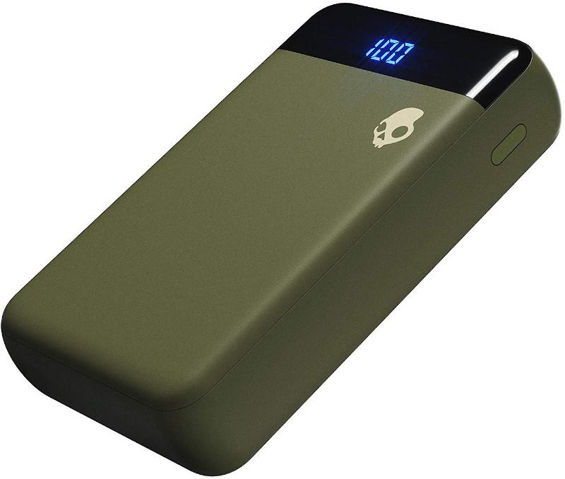 Baterie externa SkullCandy Fat Stash, 10000 mAh, 2x USB, 1x USB-C, Elevated Olive