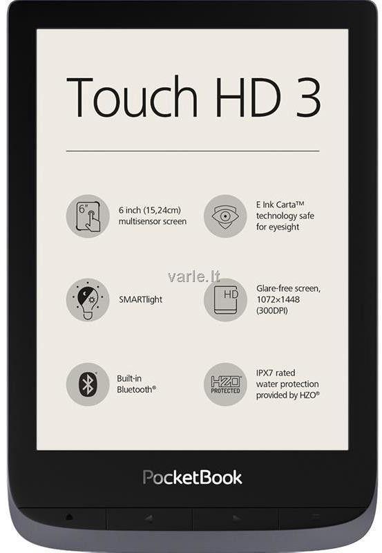 E-book Reader PocketBook Touch HD 3 Metallic Grey