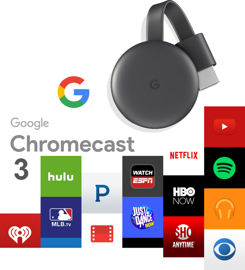 Media-player Google ChromeCast 3.0 HDMI Streaming, negru