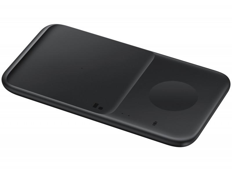 Incarcator wireless GSM Samsung EP-P4300T, Wireless Charger Duo, negru + incarcator