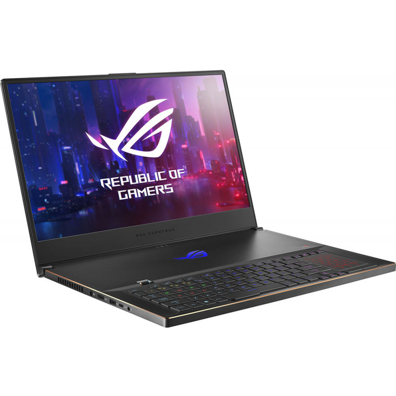 Notebook Laptop ASUS Gaming 17.3'' ROG Zephyrus S GX701GWR, FHD 144Hz 3ms G-Sync, Procesor Intel® Core™ i7-9750H (12M Cache, up to 4.50 GHz), 16GB DDR4, 1TB SSD, GeForce RTX 2070 8GB, Win 10 Home, Black