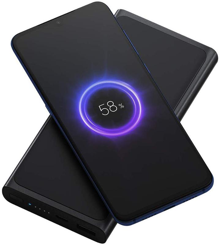 Baterie externa Xiaomi Qi Wireless, 10000 mAh, Suport 10W Wireless Fast Charging, USB-C, Black