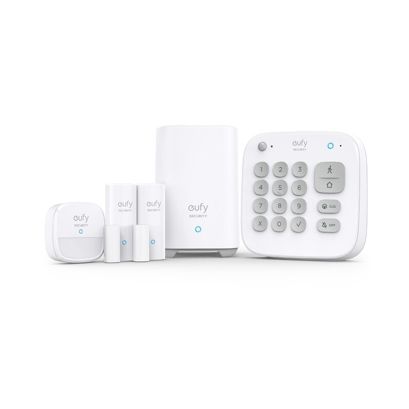 eufy Kit Alarma Smart Security, Senzor miscare, 2x Senzori intrare, Tastatura, Wireless